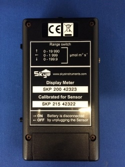 SKR100 Display Meter Back