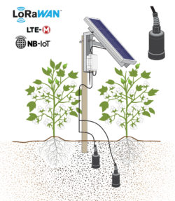 IoT Soil Oxygen & Temperature SNiP Solar Example With Cotton