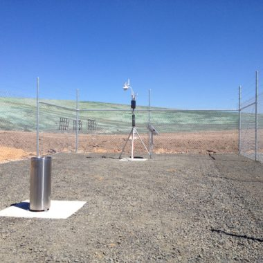 Lysimeter and Weather Station Installation to Monitor Landfill