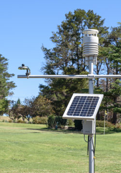 SNiP-AWS5+ showing 1x AWS500 weather station senser, 1x SP-110, 1x MFR-Node. SNiP includes RIM-7499-STD Rain Gauge.