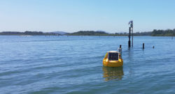 ICT Data Buoy mount at Oyster Farm Site